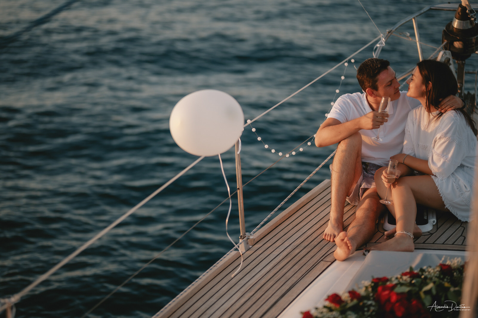 PROPOSAL OF MARRIAGE IN BOAT // alexoudis photography